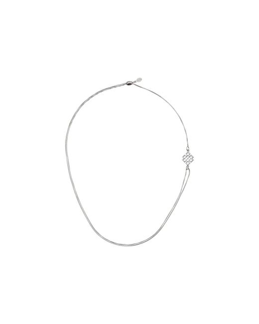 ALEX AND ANI | Metallic Precious Ii Collection Endless Knot Adjustable Necklace | Lyst