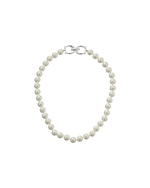 "Lauren by Ralph Lauren | White 18"" 10mm Pearl Necklace | Lyst"