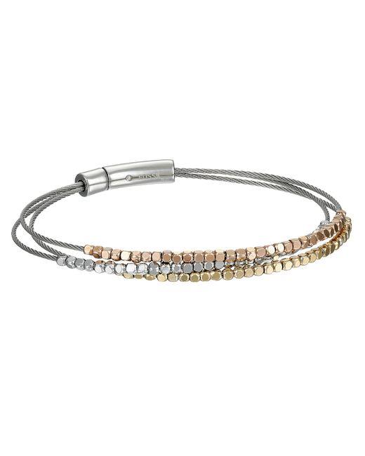 Fossil | Metallic Nugget Multi Wire Bracelet | Lyst