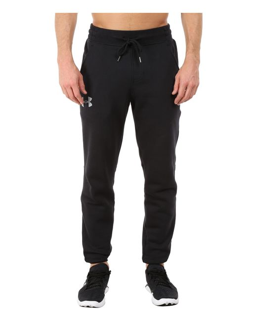 Under Armour | Black Rival Cotton Jogger for Men | Lyst