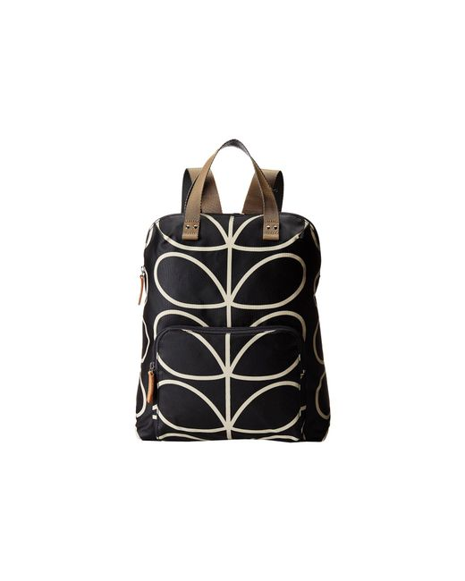 Orla Kiely | Black Backpack Tote | Lyst