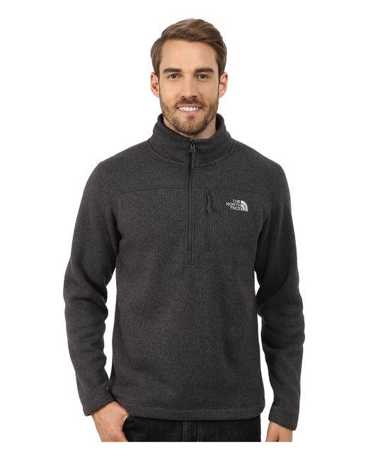 The North Face | Black Gordon Lyons 1/4 Zip Pullover for Men | Lyst
