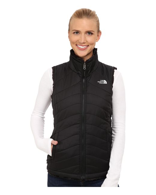 The North Face   Black Mossbud Swirl Reversible Vest   Lyst