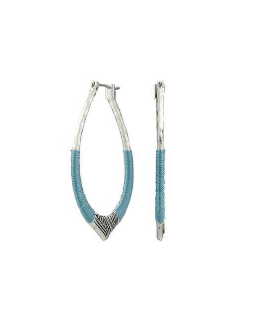 The Sak | Blue Thread Arabesque Hoop Earrings | Lyst