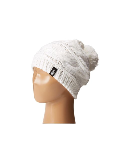 The North Face | White Triple Cable Pom Beanie | Lyst