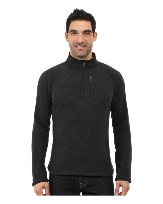 Smartwool | Black Echo Lake Half Zip Top for Men | Lyst