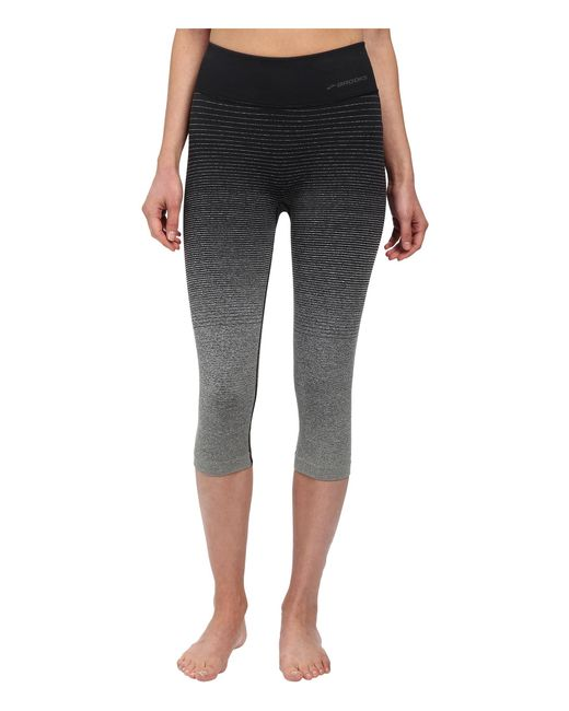 Brooks | Black Streaker Capris | Lyst
