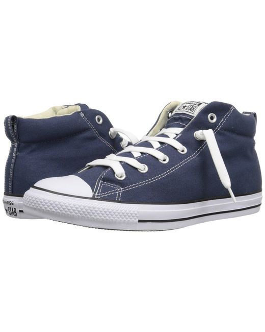 Converse | Blue Chuck Taylor® All Star® Street Core Canvas Mid | Lyst