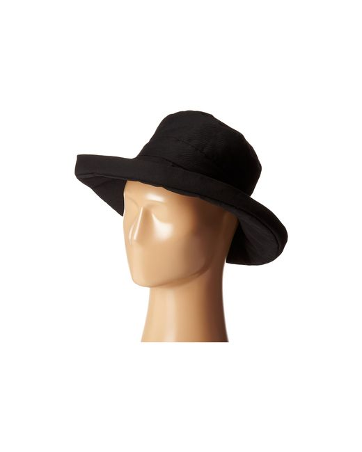 San Diego Hat Company | Black Cth4077 Linen Fabric W/ Kettle Brim | Lyst
