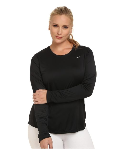Nike | Black Miler Long-sleeve Running Top (size 1x-3x) | Lyst