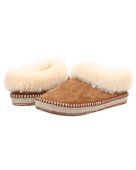 Ugg | Brown Kids Cozy Suede Slippers | Lyst