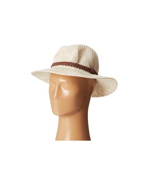 San Diego Hat Company | White Knh8008 Machine Knit Fedora W/ Braided Suede Trim | Lyst