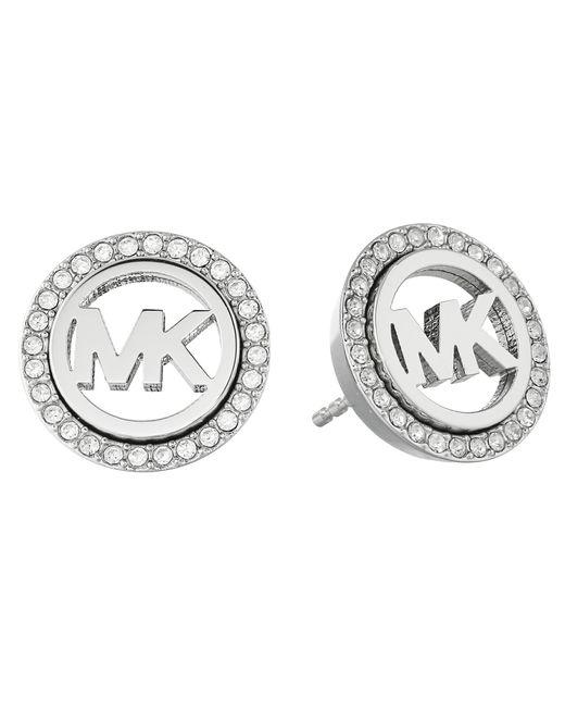 Michael Kors | Metallic Pave Stud Earrings | Lyst