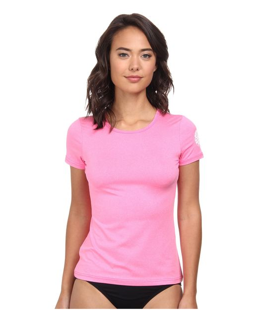 Rip Curl   Pink Wash Loose Fit Short Sleeve   Lyst