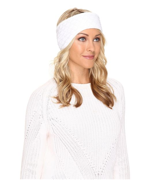 UGG | White Quilted Fabric Headband | Lyst