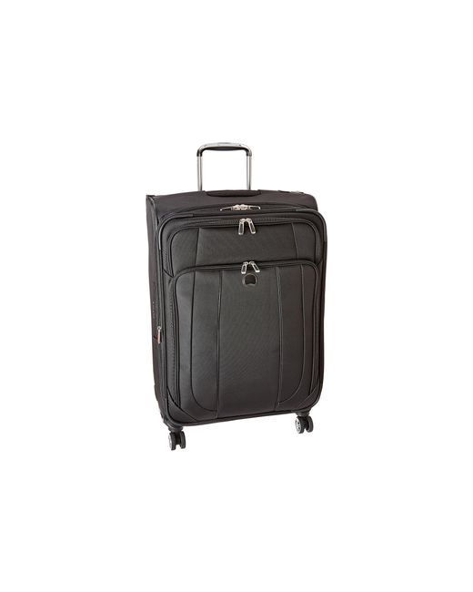 "Delsey | Black Helium Cruise 25"" Expandable Spinner Suiter Trolley 