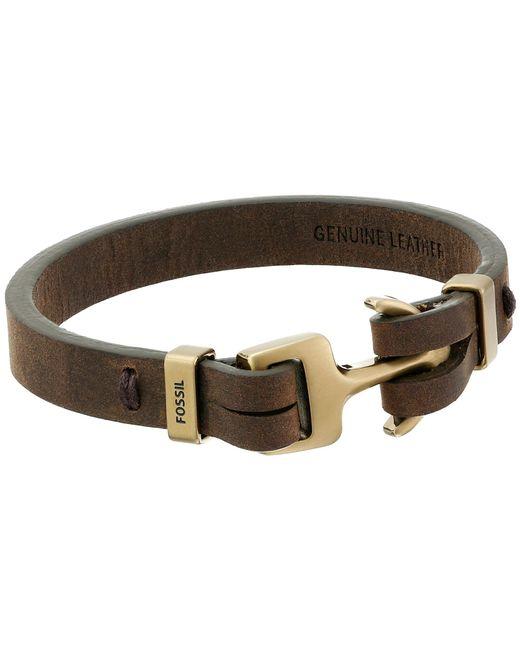 Fossil   Brown Anchor Bracelet for Men   Lyst