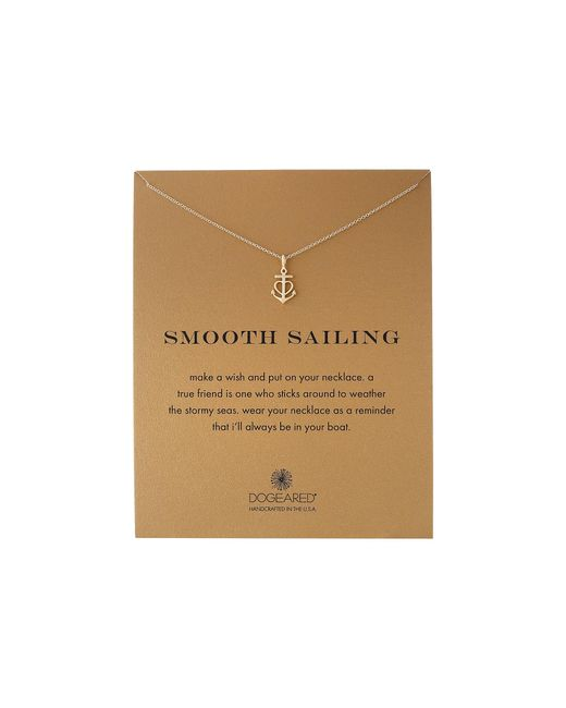 Dogeared | Metallic Smooth Sailing Necklace | Lyst