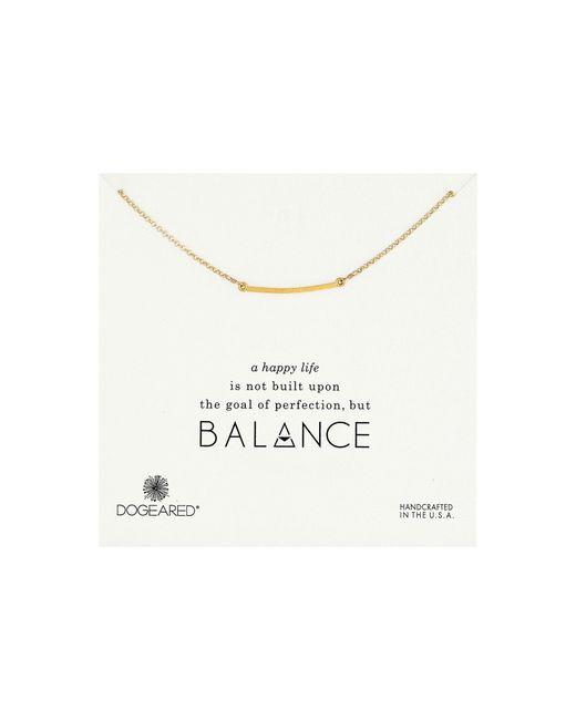 Dogeared | Metallic Balance Medium Square Bar Necklace | Lyst