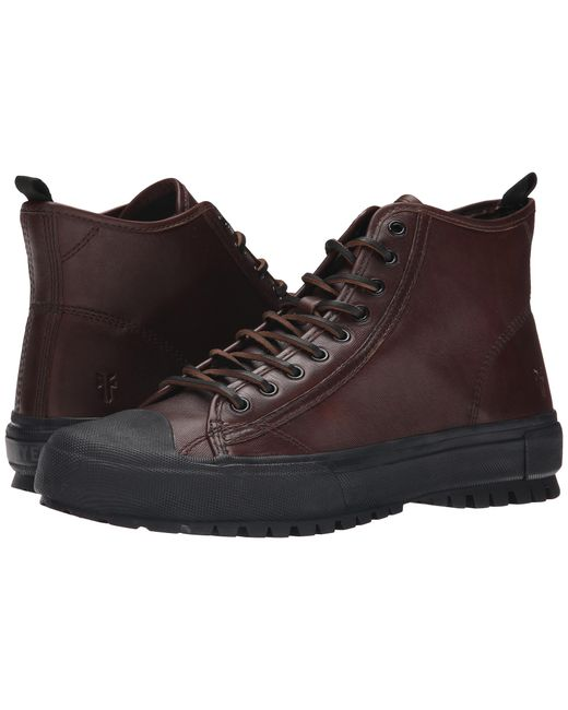 Frye | Brown Ryan Lug Mid Lace for Men | Lyst