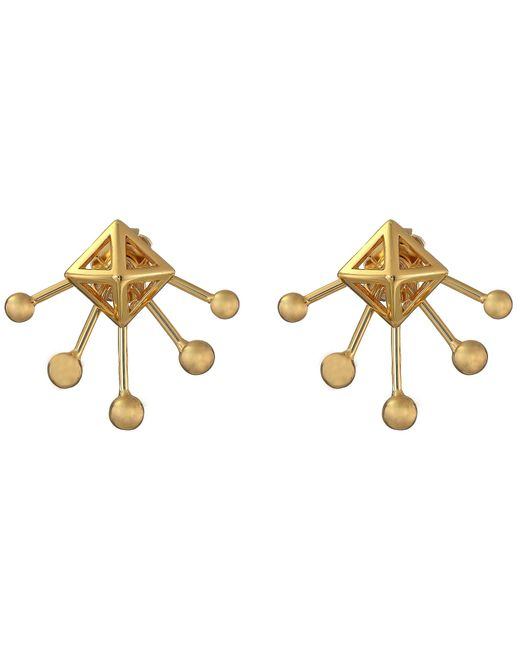 Rebecca Minkoff | Metallic Pyramid Fan Stud Earrings | Lyst