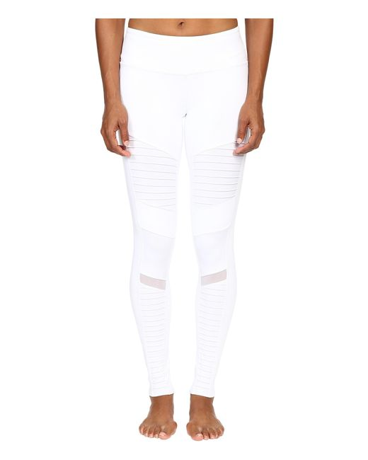 Alo Yoga | White Moto Leggings | Lyst