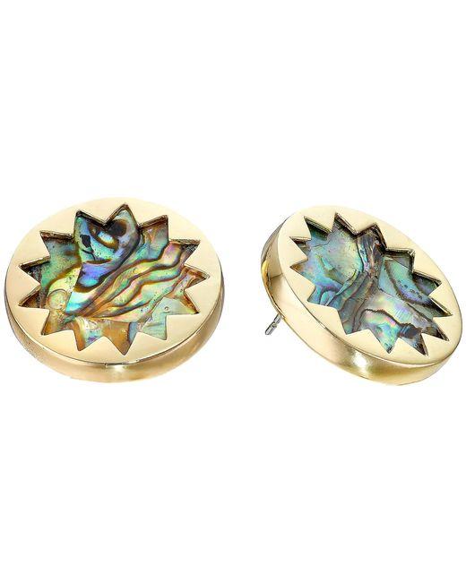 House of Harlow 1960 | Metallic Abalone Sunburst Stud Earrings | Lyst