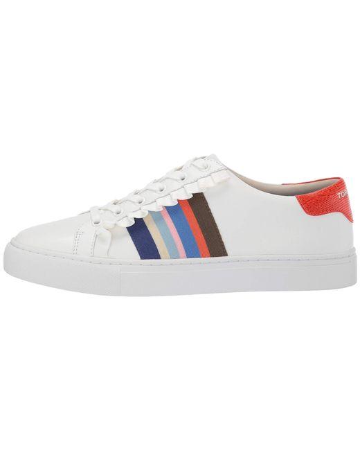 357cd60af7a3 ... Tory Sport - Ruffle Sneaker (snow White nantucket) Women s Shoes ...