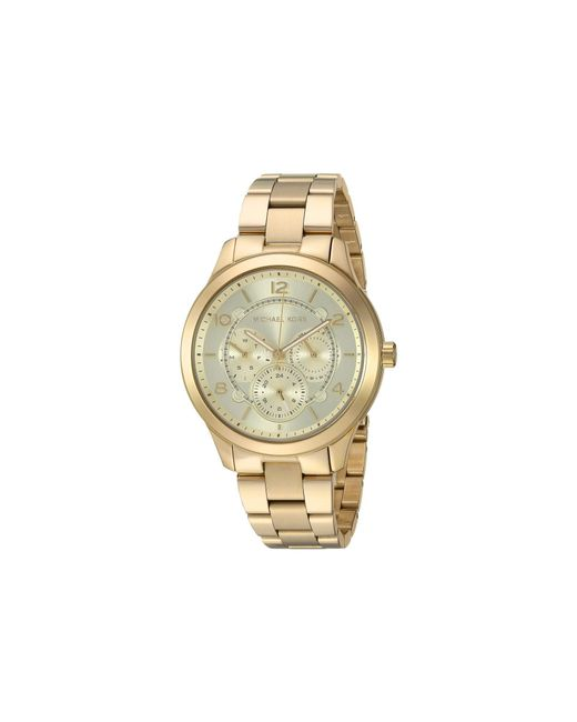 ff56e07891b9 Michael Kors - Metallic Runway - Mk6588 (gold) Watches - Lyst ...
