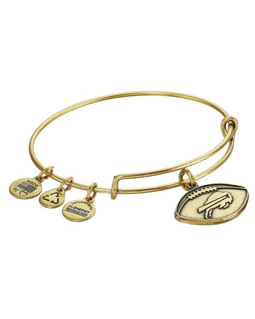 ALEX AND ANI | Metallic Nfl Buffalo Bills Football Bangle | Lyst