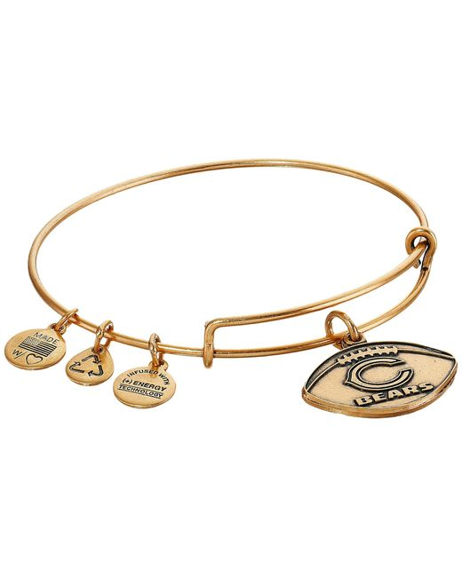 ALEX AND ANI | Metallic Nfl Chicago Bears Football Bangle | Lyst
