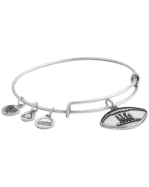 ALEX AND ANI | Metallic Nfl Cincinnati Bengals Football Bangle | Lyst