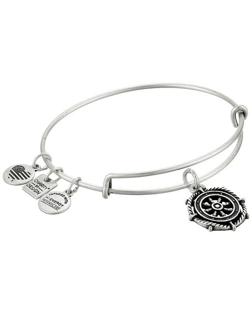 ALEX AND ANI | Metallic Charity By Design Take The Wheel Charm Bangle | Lyst