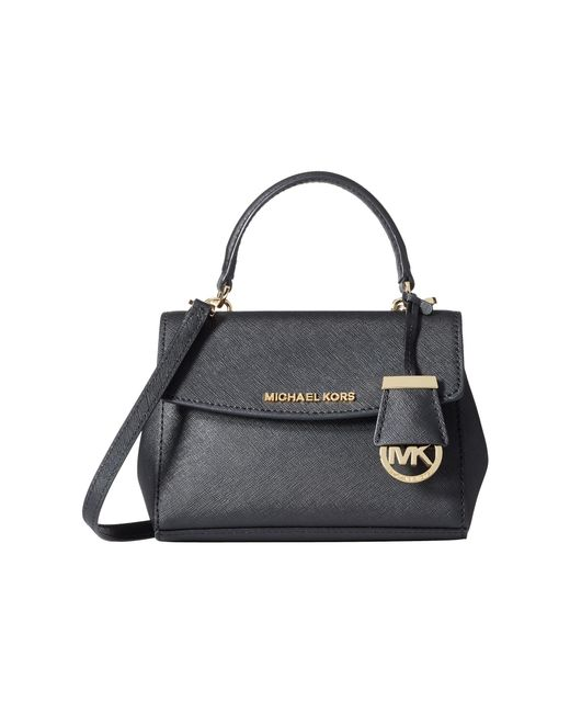 MICHAEL Michael Kors | Black Ava Extra Small Crossbody | Lyst
