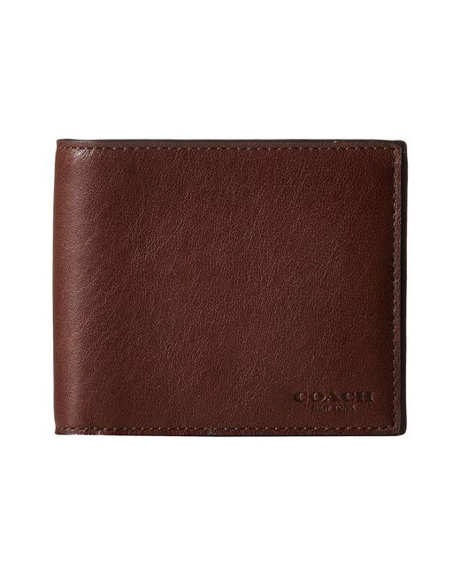COACH | Brown Sport Calf Compact Id Wallet for Men | Lyst