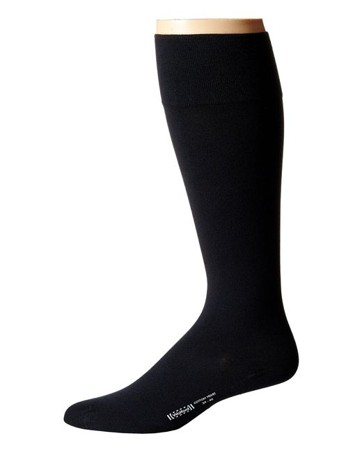 Wolford | Black Cotton Velvet Knee-highs for Men | Lyst