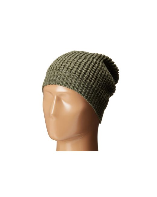 Hat Attack   Green Waffle Stitch Slouchy   Lyst
