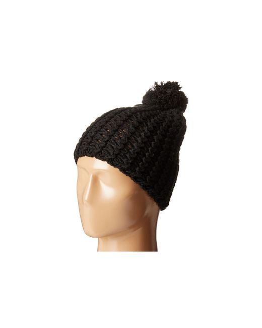 Hat Attack   Black Chevron Knit Skully   Lyst