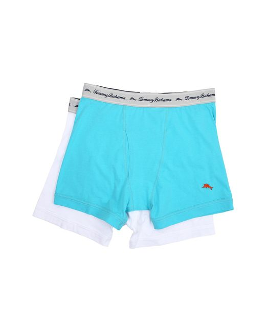 Tommy Bahama | Blue Solid Stretch Cotton Comfort Boxer Briefs 2-pack for Men | Lyst