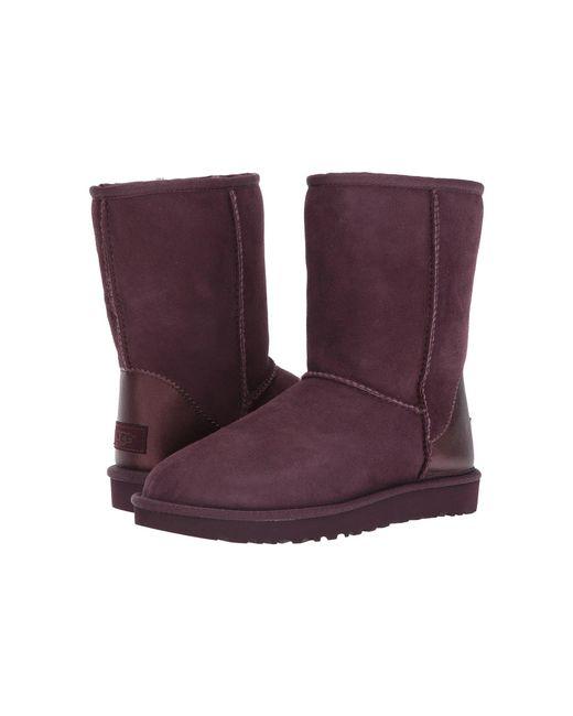 Ugg | Purple Classic Short Ii Metallic | Lyst