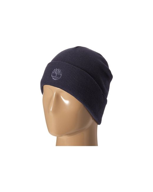 Timberland | Blue Th340037 Solid Knit Watch Cap for Men | Lyst