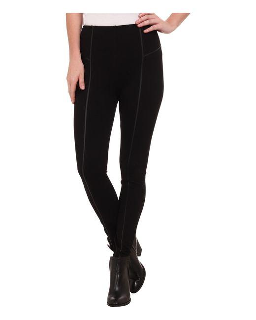 Lyssé | Black Leather Inset Leggings | Lyst