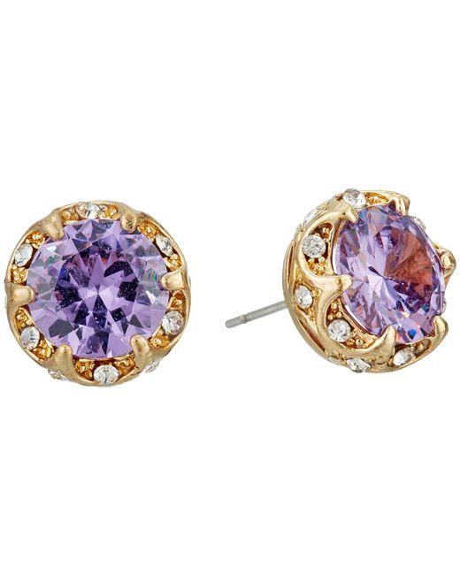 Betsey Johnson | Fall Follies Purple Stud Earrings | Lyst