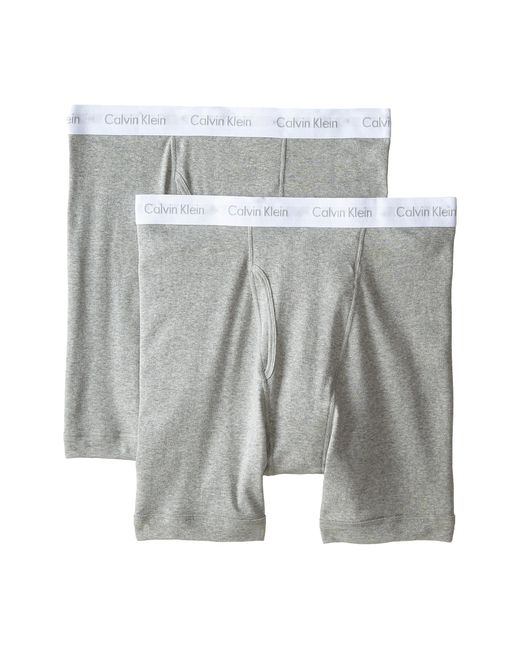 Calvin Klein   Gray Big & Tall 2-pack Boxer Brief for Men   Lyst