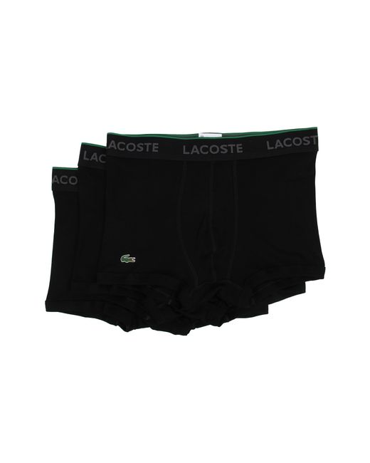 Lacoste | Black Solid Trunk for Men | Lyst