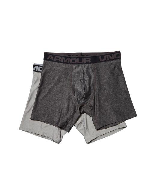 "Under Armour | Gray Ua Original Series 6"" Boxerjock® 2-pack for Men | Lyst"