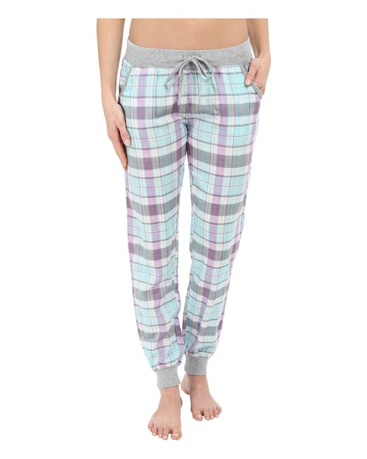 Pj Salvage Double Sided Plaid Jogger Pants In Green (Multi) | Lyst