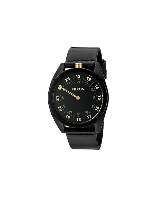 Nixon | Black Genesis Leather for Men | Lyst
