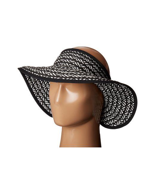 San Diego Hat Company | Black Ubv007 Adjustable Roll Up Visor With Ribbon Edge | Lyst