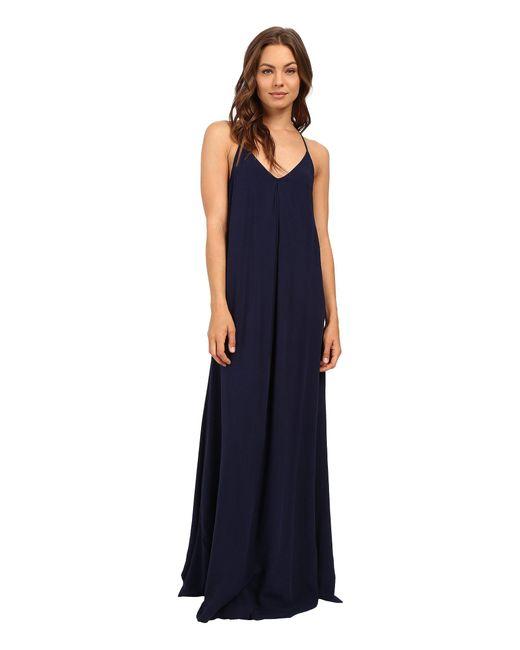 Michael Stars | Blue Modern Rayon Maxi Slip Dress | Lyst